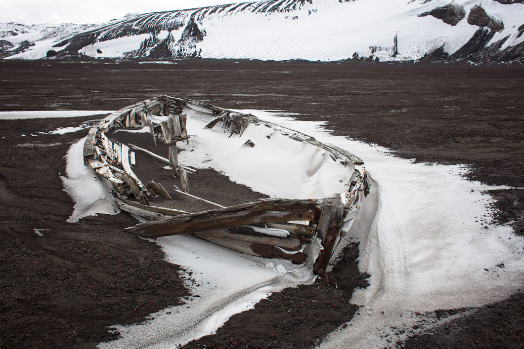 A whaling station was established on Deception Island by a Norwegian, Captain Adolfus Andresen in 1906. The Aktieselskabet Hektor Whaling Station was built in 1912. The shape of the island (made by a volcano's caldera) offered shelter for whale processing ships. Most of the remains that sit semi-preserved on the beach date from a period between 1906 and 1931 when the whaling industry was most active on shore.