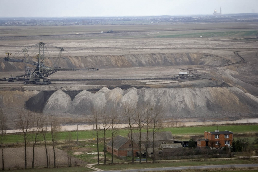 A view across the workings of part of the Konin mines of Western Poland, photographed from the windmill of Marek Matuszak.
