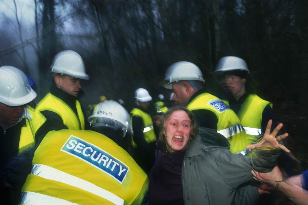 Protesters would try to 'de-arrest' their friends while they were being seized by bailiffs.