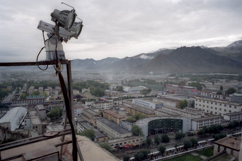 CCTV cameras survey the area surrounding the Potala, formerly the Dalai Lama's residence, in central Lhasa. Since the occupation of Tibet started, the Chinese authorities have used surveillance as a tool to control dissent amongst Tibetans.