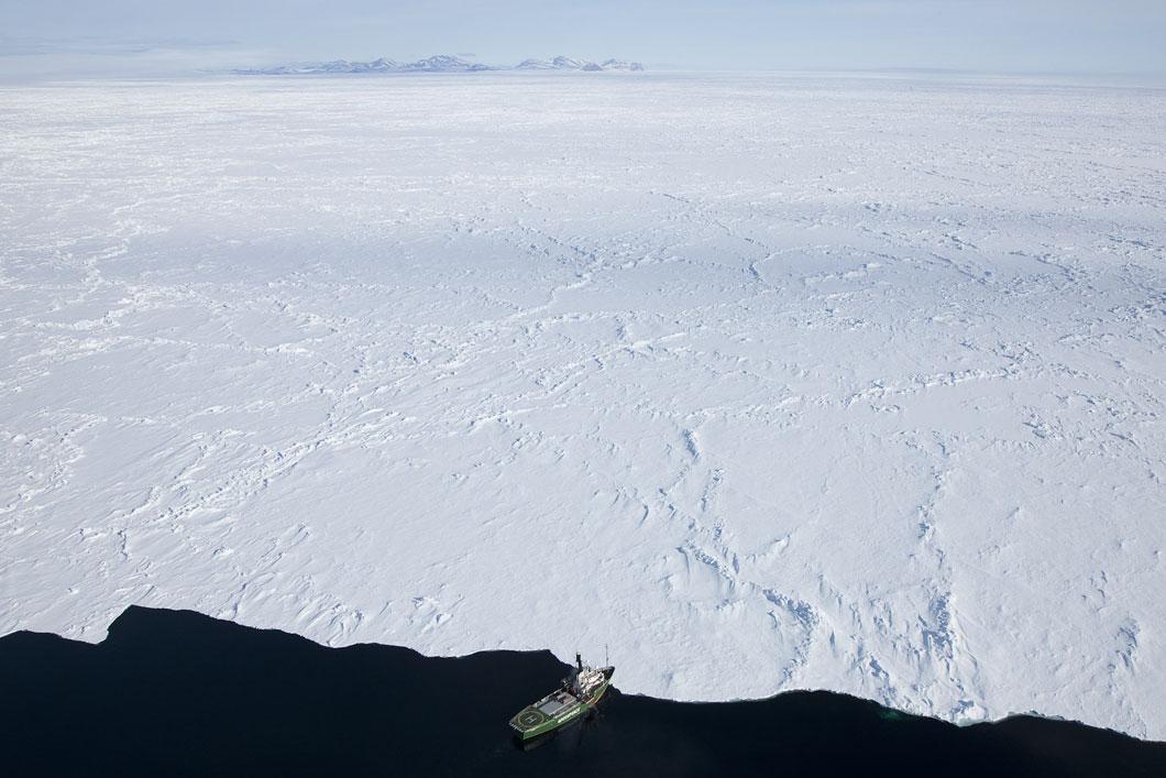 Ship at ice edge