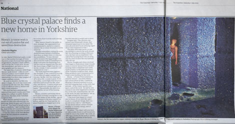 Guardian coverage of the Crystal House